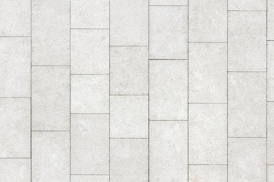 Floor of white stone slabs