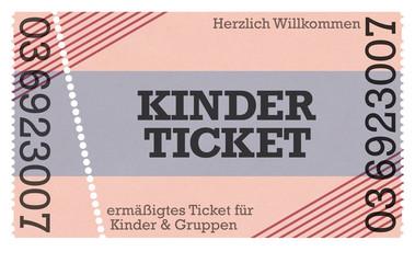 Kinderticket, Kinder Eintritt, Eintrittskarte -Vintage Design Retro Style Classic Ticket - Ticketshop -
