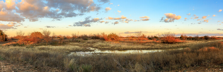 Foto op Plexiglas Texas Prarie Sunset