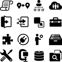 Information Technology Icons - Black Series