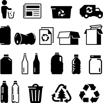 Recycling Icons - Black Series