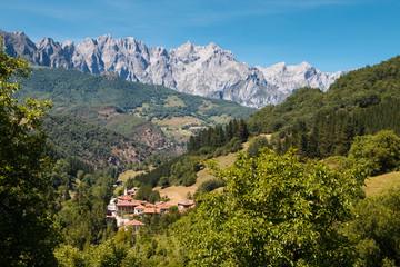 Town of Cosgaya, in peaks of Europe, Spain.