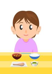 栄養バランスのとれた食事 女性