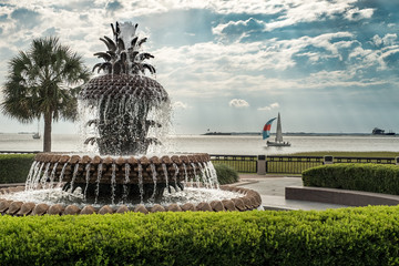 Fototapeta premium Charleston South Carolina Pineapple Park Fontanna