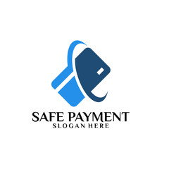 Safe Payment Logo template designs vector illustration