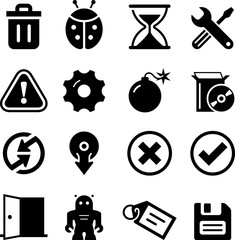 Software Icons - Black Series
