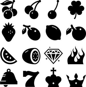 Slot Machine Icons - Black Series