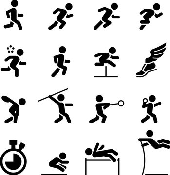 Track and Field Icons - Black Series