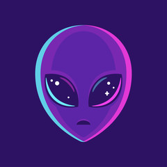 Alien face illustration
