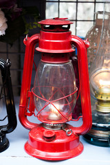 Old retro  styled lantern made of metal