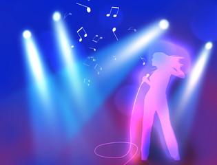 女性 歌手 ステージ 歌う