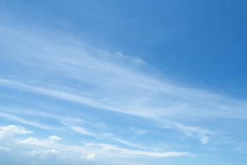 Blue sky and white material