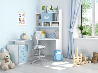 children's room. 3d rendering