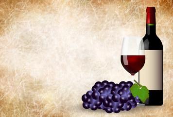 ワイン ぶどう 和紙 背景