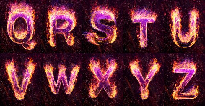 Fire Alphabet Q_Z