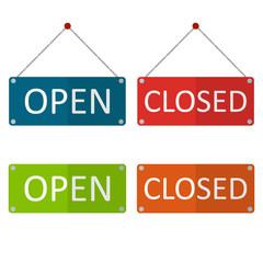 close open board vector