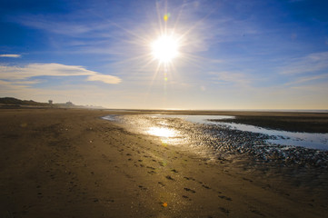 soleil a la mer