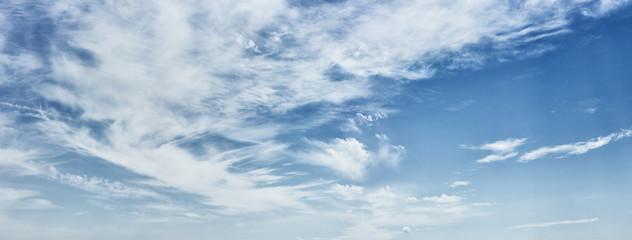 Cirrus clouds on a deep blue sky