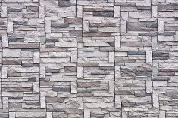 Built of stone textured wall