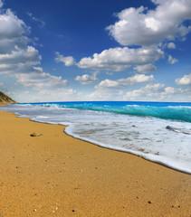 sand beach and tropical sea