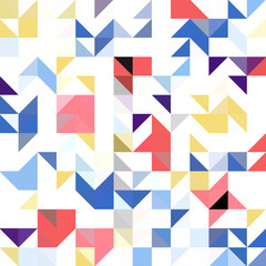 Triangle geometric shapes pattern.