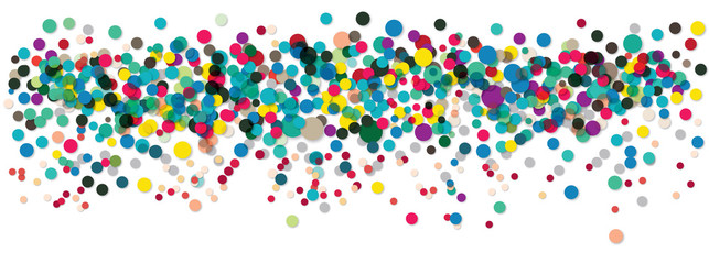 Buntes Konfetti, Konfettiregen. Background Dots, Colorful Background, Web Banner