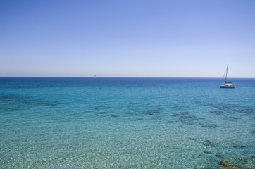 Beach view near Otranto, Puglia, Salento, Italy