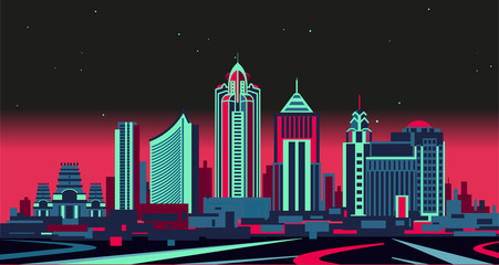 Wall Mural - Bangalore skyline