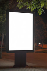 Blank Advertising Stand At The Street