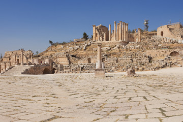Roman Forum in Jerash Jordan