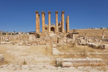 Artemis temple in Jerash Jordan