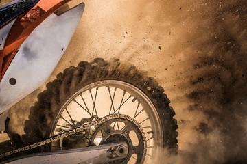 Dirt bike on track