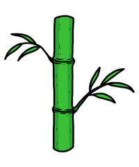 bamboo tree / cartoon vector and illustration, hand drawn style, isolated on white background.