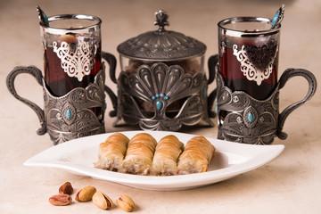 Baklava und Tee