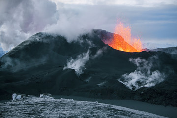 Photo sur Plexiglas Volcan Volcano eruption