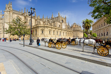 Papiers peints Palerme The Cathedral of Saint Mary of the See in Seville