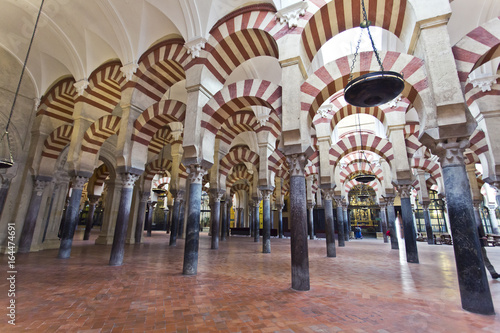 Inside the Grand Mosque Mezquita cathedral of Cordoba