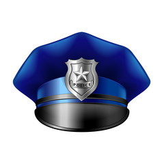 Police hat isolated on white vector