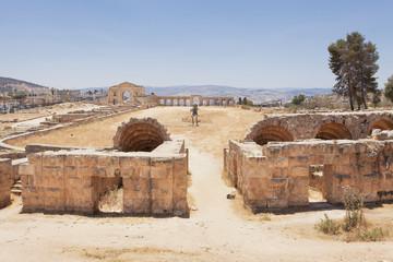 Roman Hippodrome in Jerash Jordan