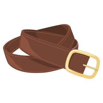 Leather belt vector illustration