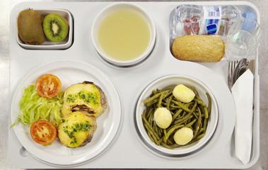 food menu,balanced hospital diet,photography studio of girona,catalonia,spain,