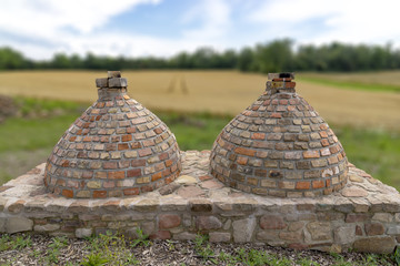 Two Roman oven
