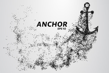 The anchor of the particles. The anchor consists of circles and points. Vector illustration.