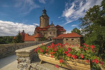 Czocha Castle on a clear summer day, Poland
