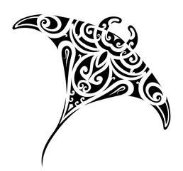 Stingray tattoo shape