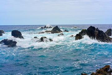 Wild ocean waves.