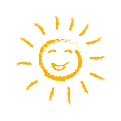 Drawn sun icons number 1 - stock vector