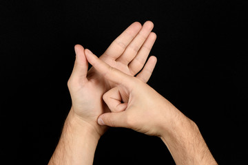 The language of the deaf English version of the gesture the letter A