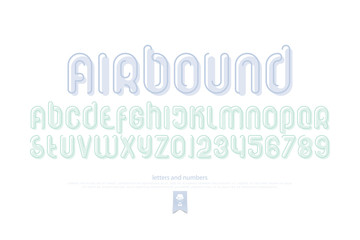 set of stylized alphabet letters and numbers. vector, regular font type. thin contour typeface design. modern decorative typesetting