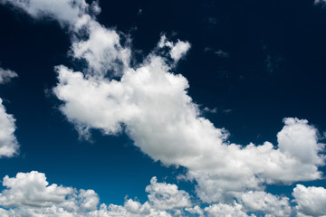 Big white clouds on a blue sky